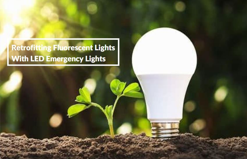 Emergency lights retrofitting with LED lights for protecting environment
