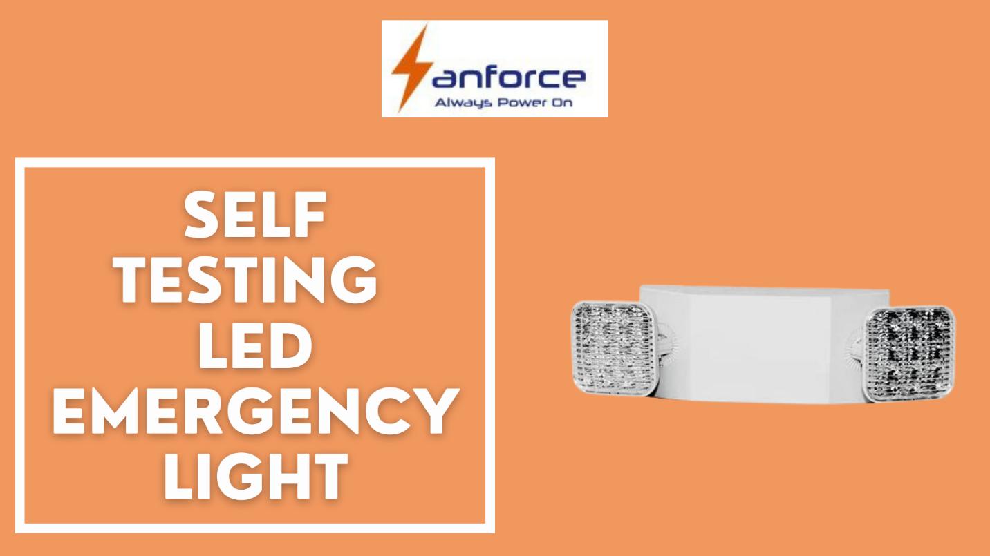 self testing LED emergency light